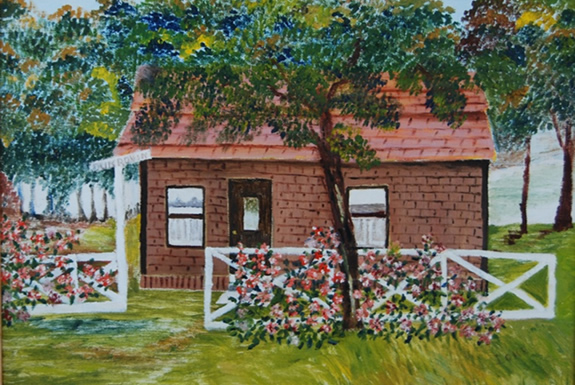 Cottage Oil Painting
